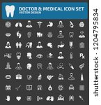 doctor and medical vector icon... | Shutterstock .eps vector #1204795834