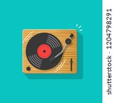 vinyl record player vector... | Shutterstock .eps vector #1204798291