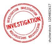 grunge red investigation word... | Shutterstock .eps vector #1204802617