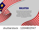 waving ribbon or banner with... | Shutterstock .eps vector #1204802947