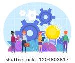business deal  agreement... | Shutterstock .eps vector #1204803817