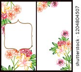 vintage delicate greeting... | Shutterstock . vector #1204804507