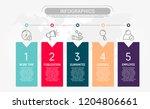 modern flat vector illustration.... | Shutterstock .eps vector #1204806661