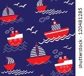 seamless baby nautical pattern. ...