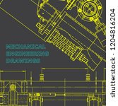 blueprint  scheme  plan  gray... | Shutterstock .eps vector #1204816204