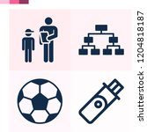 contains such icons as football ... | Shutterstock .eps vector #1204818187