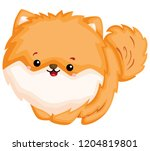 a happy and adorable corgi pure ... | Shutterstock .eps vector #1204819801