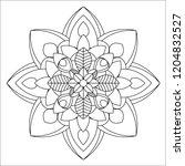 flower mandala illustration.... | Shutterstock . vector #1204832527