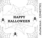 halloween  banner with... | Shutterstock .eps vector #1204837501
