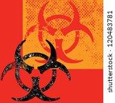 a destroyed style bio hazard... | Shutterstock .eps vector #120483781