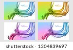 abstract set color light...   Shutterstock .eps vector #1204839697