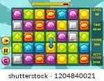 interface gems match3 games....