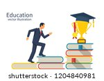 education ladder concept. young ... | Shutterstock .eps vector #1204840981