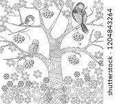 doodle winter drawing. art... | Shutterstock .eps vector #1204843264