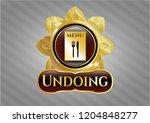 shiny emblem with restaurant...   Shutterstock .eps vector #1204848277