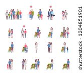 set grandparents parents... | Shutterstock .eps vector #1204851901