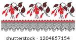 embroidered good like handmade... | Shutterstock .eps vector #1204857154