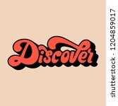 discover typography style... | Shutterstock .eps vector #1204859017