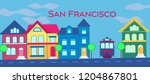 san francisco  magenta... | Shutterstock .eps vector #1204867801
