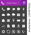 mobile apps glyph inverted icons | Shutterstock .eps vector #1204870261