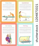 body wrap and cosmetician... | Shutterstock .eps vector #1204873321