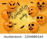 halloween greeting template.... | Shutterstock .eps vector #1204880164