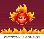 hot sale best offer promo label ... | Shutterstock .eps vector #1204880701