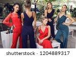 amazing five girls in the... | Shutterstock . vector #1204889317