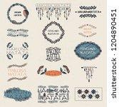set of vector labels. hakuna... | Shutterstock .eps vector #1204890451