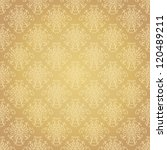 seamless holiday golden pattern.... | Shutterstock .eps vector #120489211