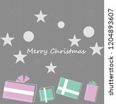 merry christmas. gifts ...   Shutterstock .eps vector #1204893607