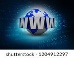 3d illustration of earth globe... | Shutterstock . vector #1204912297