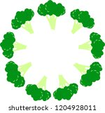 rounded broccoli pattern.... | Shutterstock .eps vector #1204928011