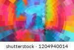 geometric design  mosaic ... | Shutterstock .eps vector #1204940014
