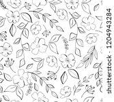 ink floral seamless pattern | Shutterstock . vector #1204943284