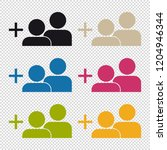 add a friend icon   colorful... | Shutterstock .eps vector #1204946344