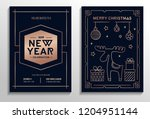 new year party invitation cards ... | Shutterstock .eps vector #1204951144