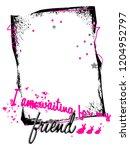 stylish trendy slogan tee t... | Shutterstock .eps vector #1204952797