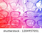 the rack with fashion... | Shutterstock . vector #1204957051