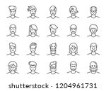 man avatar line icon set.... | Shutterstock .eps vector #1204961731