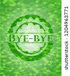 bye bye green emblem with... | Shutterstock .eps vector #1204963771
