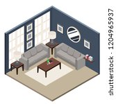 the isometric style design of a ... | Shutterstock .eps vector #1204965937