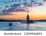 maiden's tower istanbul turkey | Shutterstock . vector #1204966831
