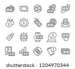 set of money line icons  such... | Shutterstock .eps vector #1204970344