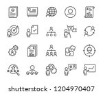set of work icons  such as job  ... | Shutterstock .eps vector #1204970407