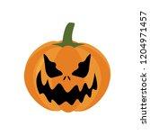 halloween pumpkin illustration... | Shutterstock . vector #1204971457