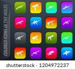 hand weapons colored icons in...   Shutterstock .eps vector #1204972237