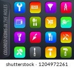 work tools colored icons in the ...   Shutterstock .eps vector #1204972261