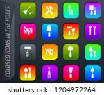 work tools colored icons in the ...   Shutterstock .eps vector #1204972264