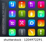 work tools colored icons in the ...   Shutterstock .eps vector #1204972291